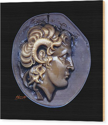 Alexander The Great Wood Print by Patricia Howitt
