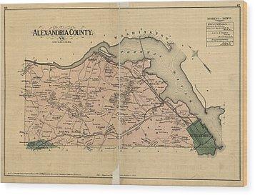 Alexandria Virginia 1878 Wood Print