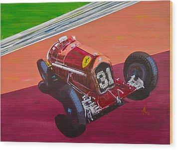Alfa Romeo Tipo B P3  Wood Print