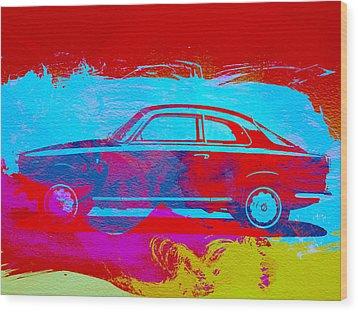 Alfa Romeo  Watercolor 1 Wood Print by Naxart Studio