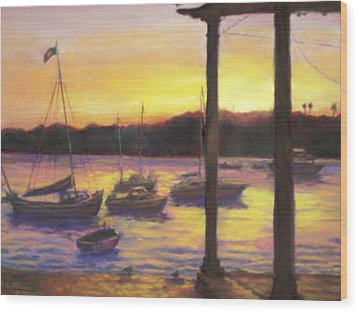 Algarve Sunset Wood Print
