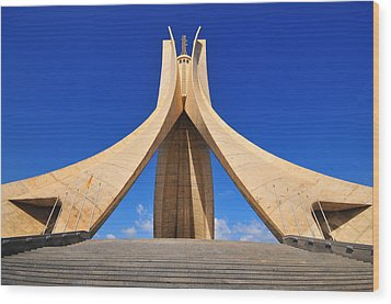 Algiers Martyrs Monument Wood Print by Miguel Torres