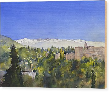 Alhambra Granada Wood Print by Margaret Merry