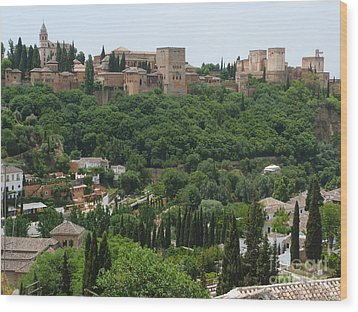 Wood Print featuring the photograph Alhambra - Granada - Spain by Phil Banks
