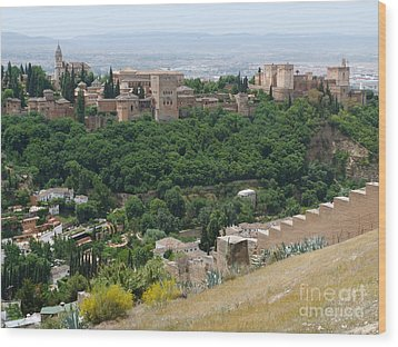 Alhambra Palace - Granada Wood Print by Phil Banks
