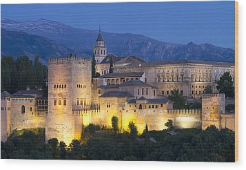 Wood Print featuring the photograph Alhambra Palace  by Nathan Rupert