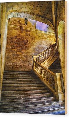 Alhambra Stairway Wood Print by Rick Bragan
