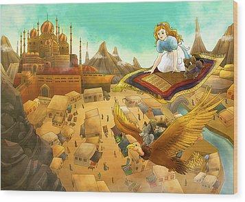 Ali Baba Cover Art Wood Print by Reynold Jay