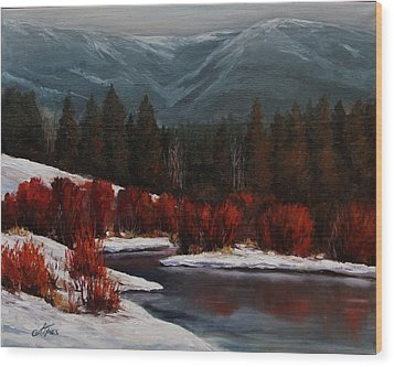 Alice Creek Wood Print by Suzanne Tynes