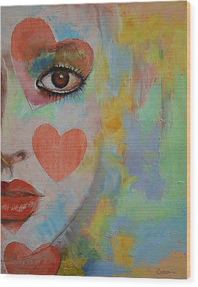 Alice In Wonderland Wood Print by Michael Creese