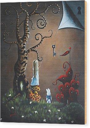 Alice In Wonderland Original Artwork - Key To Wonderland Wood Print