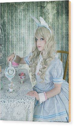 Alice Lolita Wood Print by Christine Holding