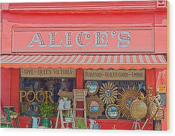 Alice's Antiques Wood Print by Georgia Fowler