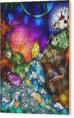 Alice's Wonderland Wood Print by Mandie Manzano