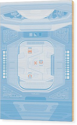 Alien 1979 Poster - Airlock Wood Print by Peter Cassidy