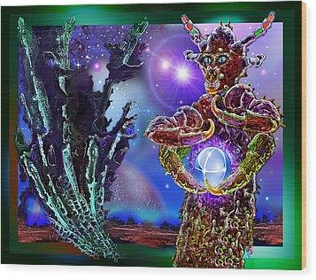 Alien  Beauty Wood Print by Hartmut Jager