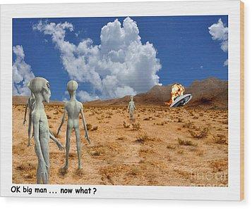 Alien Crash Ver - 2 Wood Print