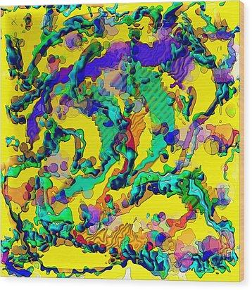 Alien Dna Wood Print by Alec Drake