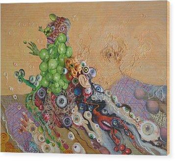 Alien Dog Pile Wood Print by Douglas Fromm