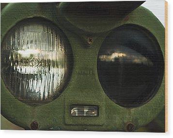 Alien Eyes Wood Print by Christi Kraft