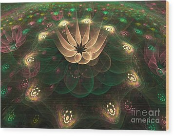 Alien Flower Wood Print by Svetlana Nikolova