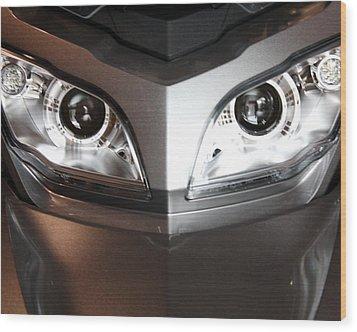 Alien Headlights  Can Am Spyder Motorcycle Wood Print