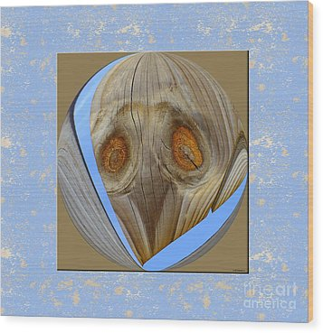 Earthly Alien Wood Print by Scott Cameron
