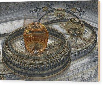 Alien Landscape II Wood Print by Martin Capek