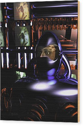 Alien Mind Control Wood Print by Bob Orsillo