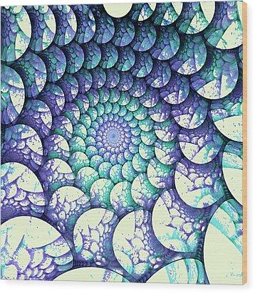 Alien Nest Wood Print by Anastasiya Malakhova