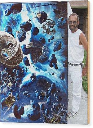 Alien Pirates Wood Print by Murphy Elliott