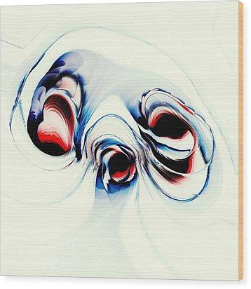 Alien Puppy Wood Print by Anastasiya Malakhova