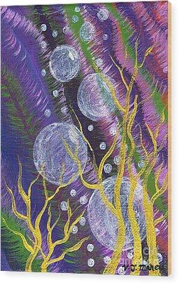 Alien Sea Wood Print by Vicki Maheu