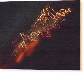 Alien Spacecraft Wood Print