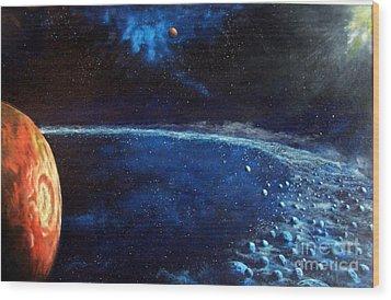Alien Storm Wood Print by Murphy Elliott