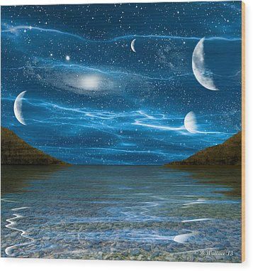 Alien Waterscape Wood Print by Brian Wallace