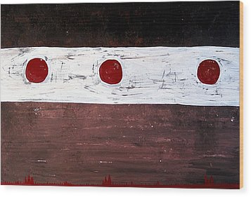 Alignment Original Painting Wood Print by Sol Luckman