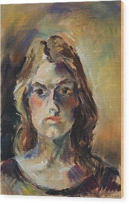 Aline Wood Print by Barbara Pommerenke