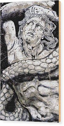 Alkyoneus - Detail No. 1 Wood Print by Steve Bogdanoff