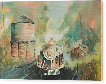 All Aboard Wood Print by Lee Beuther