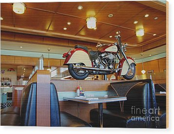 All American Diner 4 Wood Print by Bob Christopher