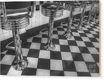 All American Diner Wood Print by Bob Christopher