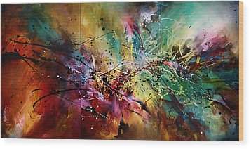 'all At Once' Wood Print by Michael Lang
