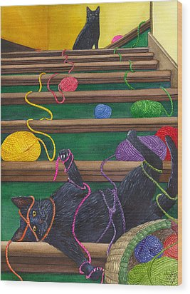 All Caught Up Wood Print by Catherine G McElroy