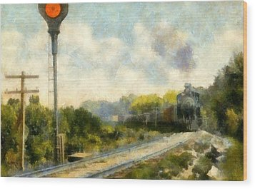 All Clear On The Pere Marquette Railway  Wood Print by Michelle Calkins