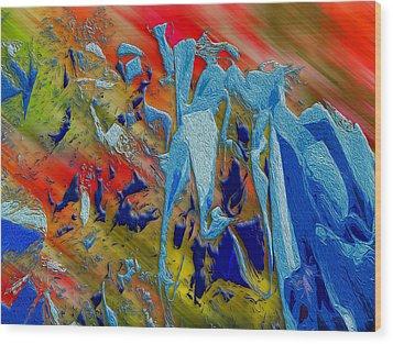 All Dat Jazz Wood Print by Paul Wear