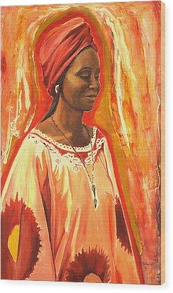 All Dressed Up Wood Print by Sheila Diemert