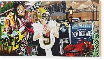 All Hail New Orleans Wood Print by Alonzo Butler