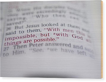 All Is Possible Wood Print by Andres LaBrada