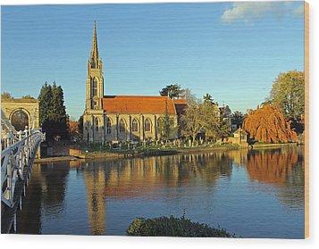 All Saints Church Marlow Wood Print by Tony Murtagh